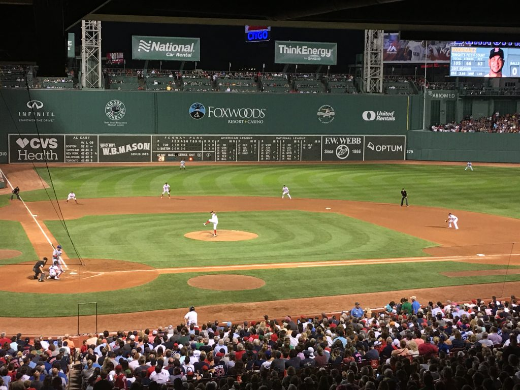 Red Sox versus Blue Jays at Fenway park
