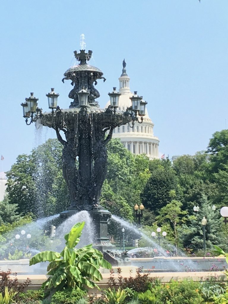 Fountain in front of the Capital Building