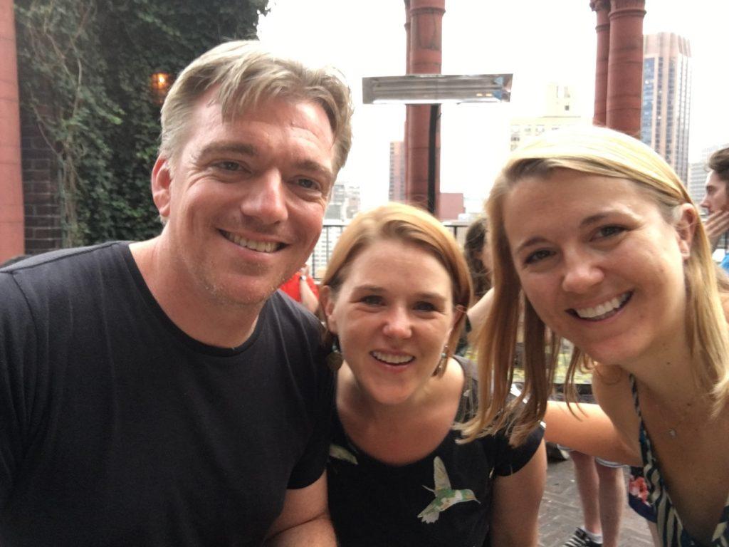 Erik, Slinky, Alyssa on the roof