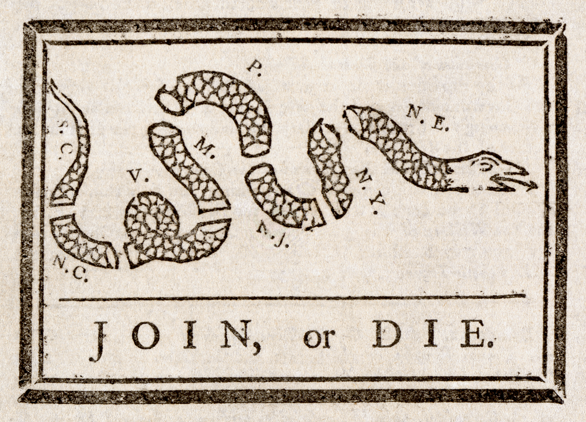 Join, or Die cartoon