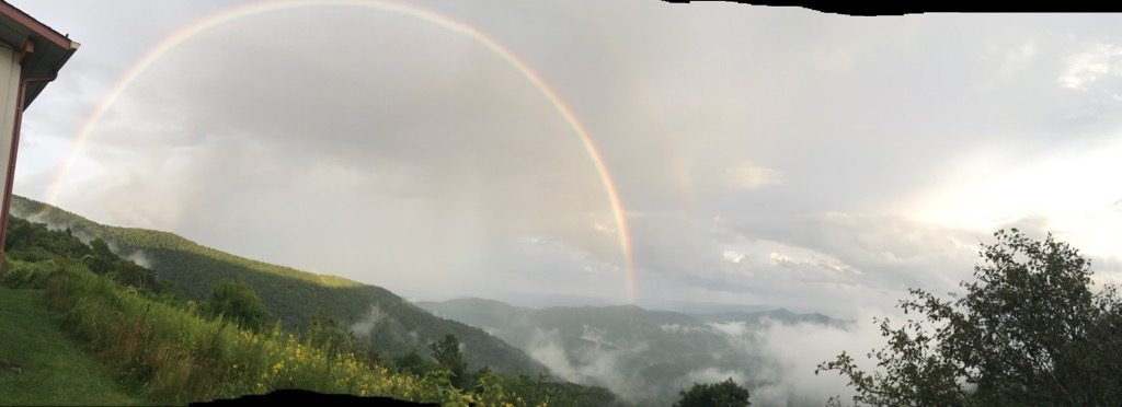 Rainbow over Mt Pisgah
