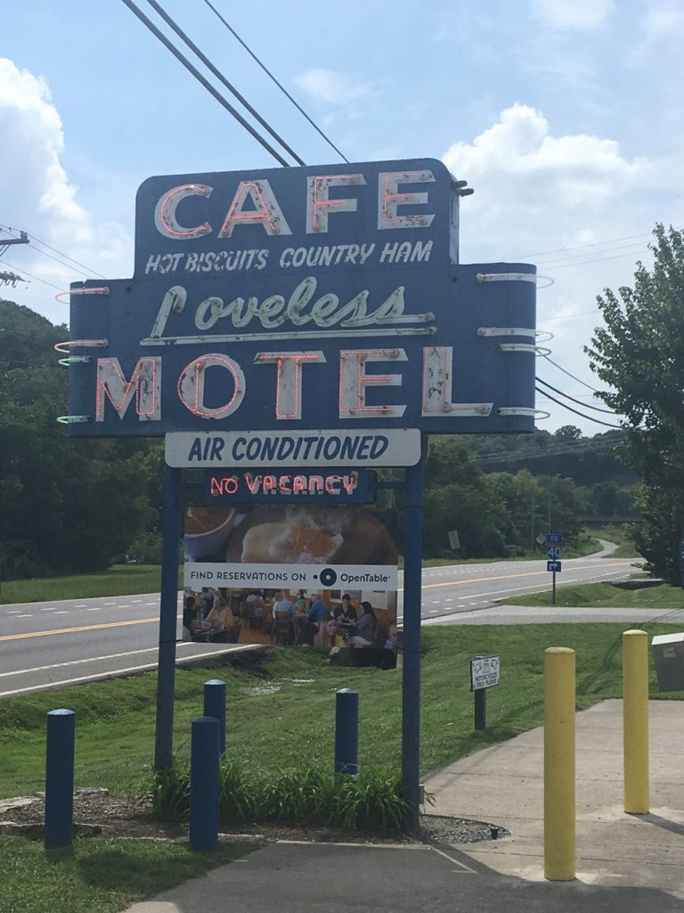 Loveless Motel and Cafe sign