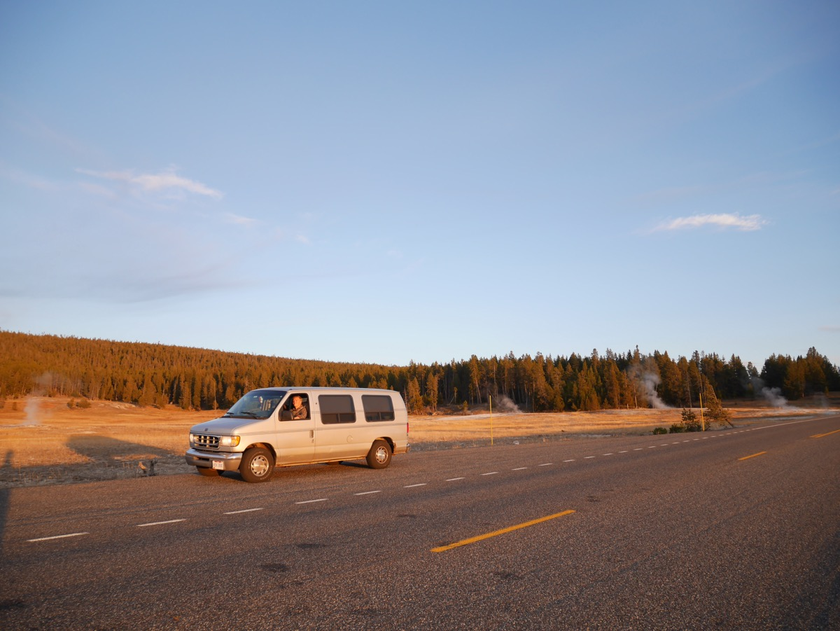 Van at Yellowstone, Wyoming