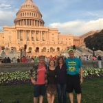 Erik, Slinky, Kellie, and Carlton in front of the Capital Dome