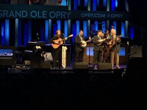 Del McCoury band on stage at Grand Ole Opry